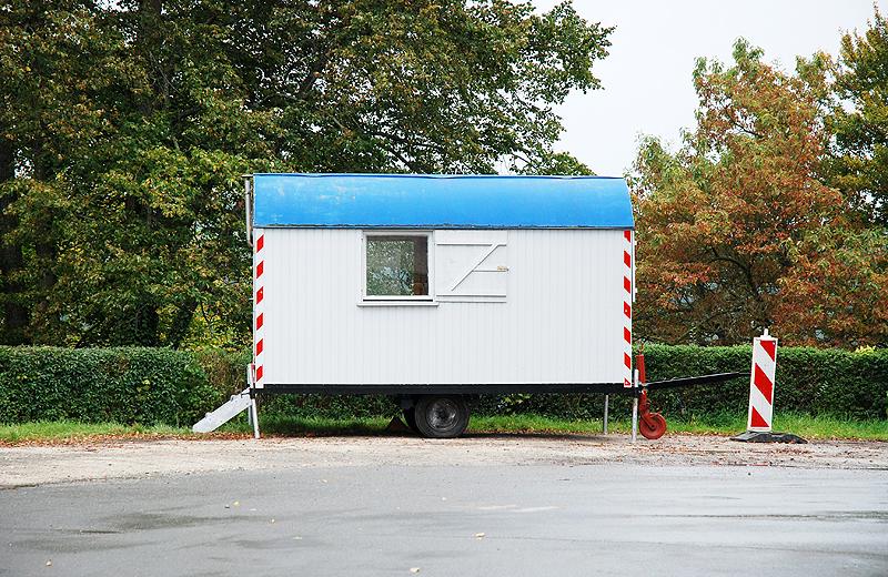 Bauwagen Parkplatz Deutschland