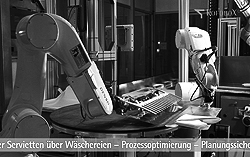 Filmproduktionen, Industriefilm, Maschinenfilm, Messevideo: Roboter zum Servietten falten