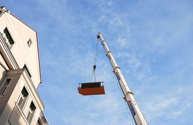Balkon fŸr ein Haus am Kran